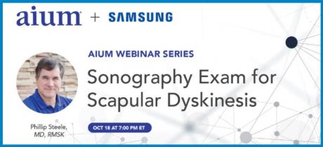 Webinář: Sonography Exam for Scapular Dyskinesis